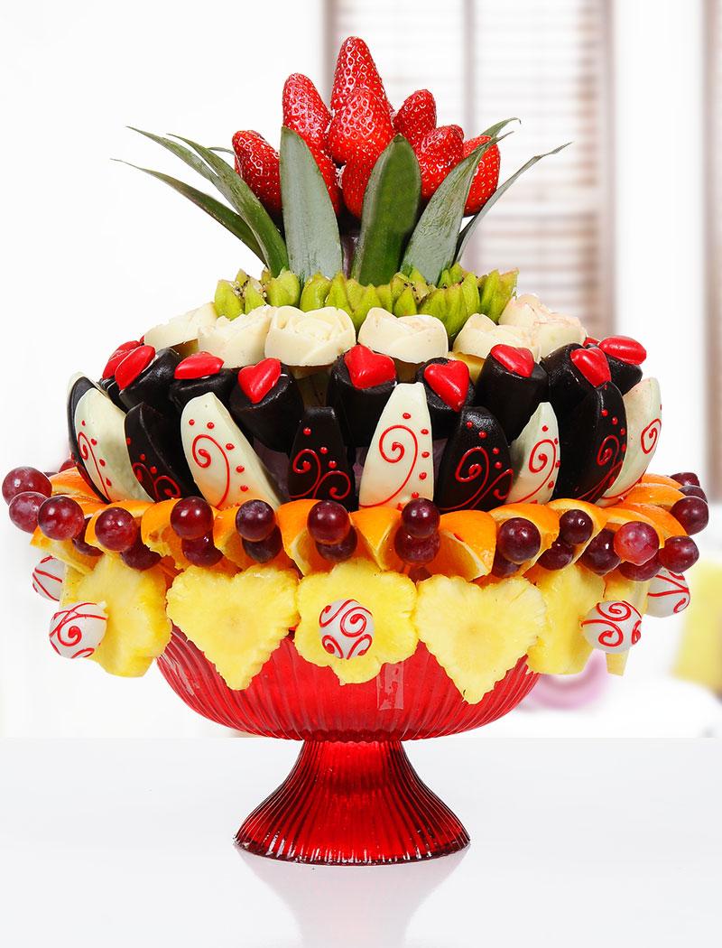 Kek çiçekleri, çikolata meyve çiçekleri, kurabiye çiçekleri, meyve çiçekleri, truffle çiçekleri, kestane şekeri çiçekleri, marshmallow çiçekleri, karışık lezzetler ve kutulu lezzetler